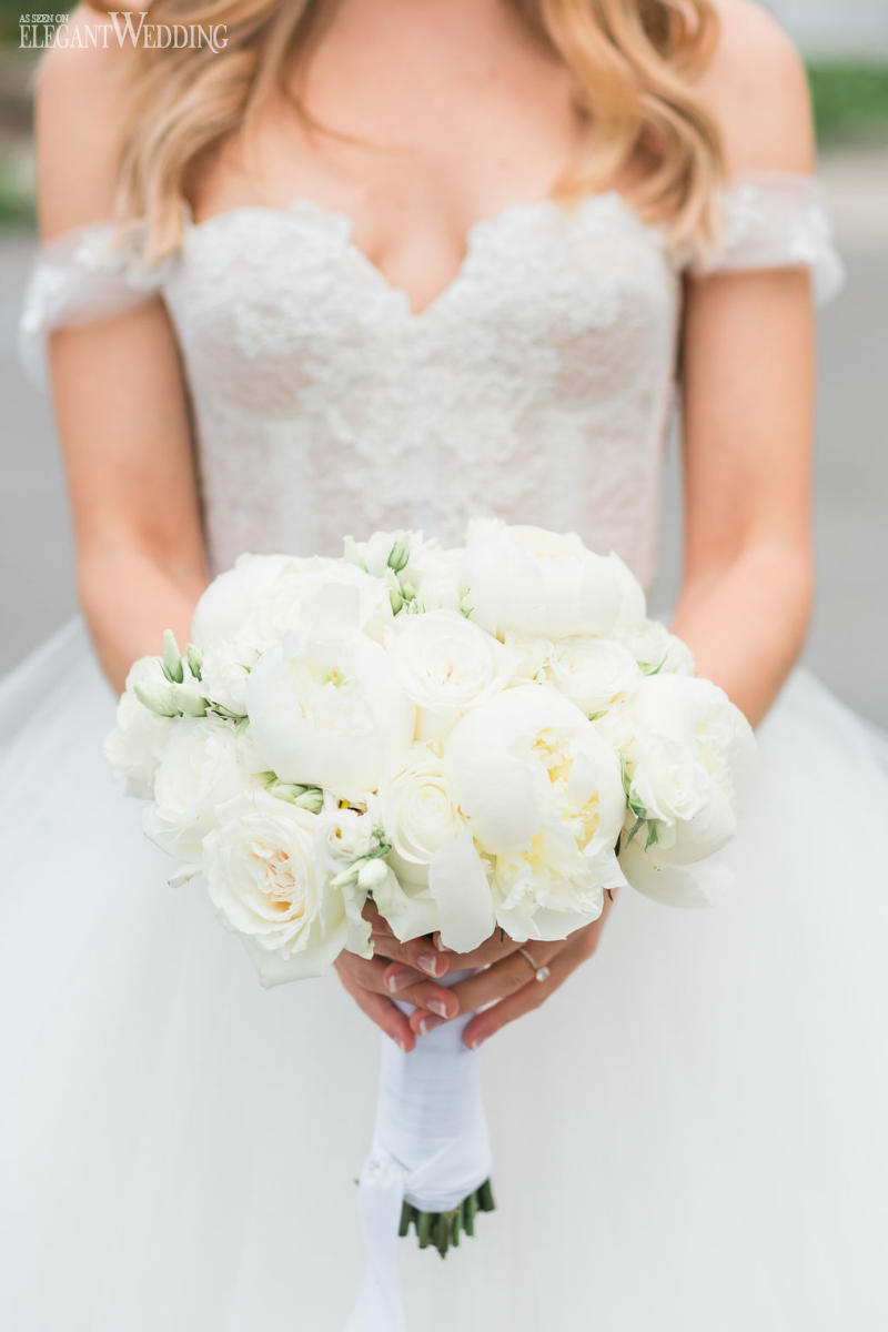 Classic White Wedding Bouquets