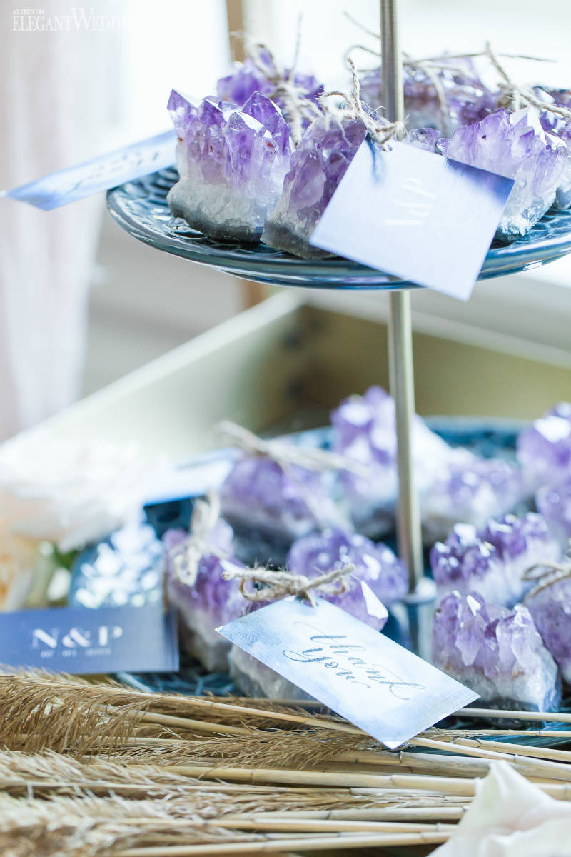 Geode Wedding Favours