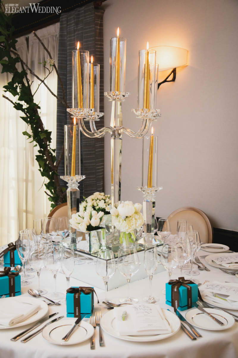 Mirror Wedding Centrepiece Ideas