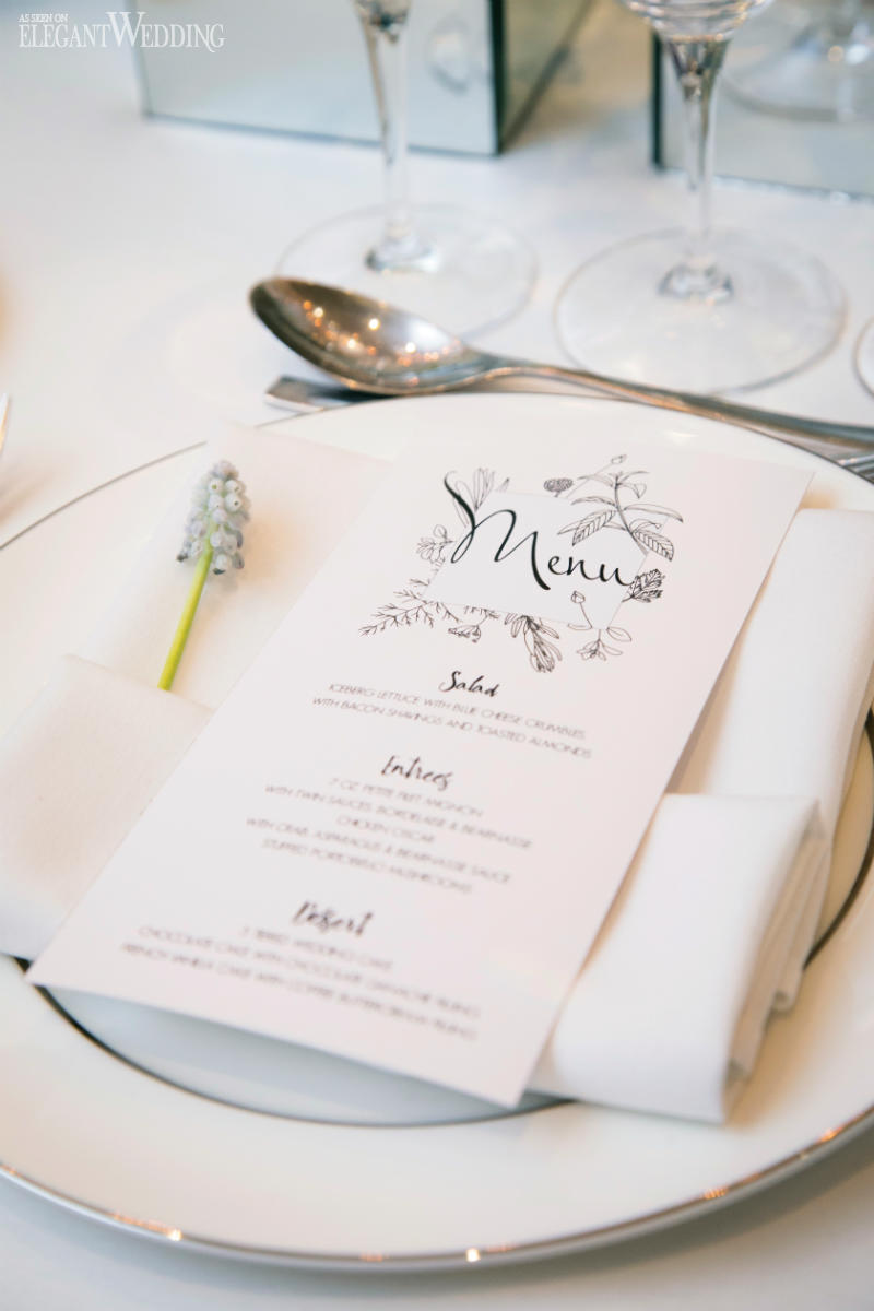 Wedding Menu Inspiration