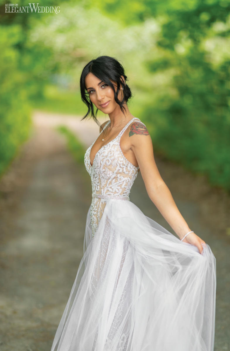 Overskirt Wedding Dress