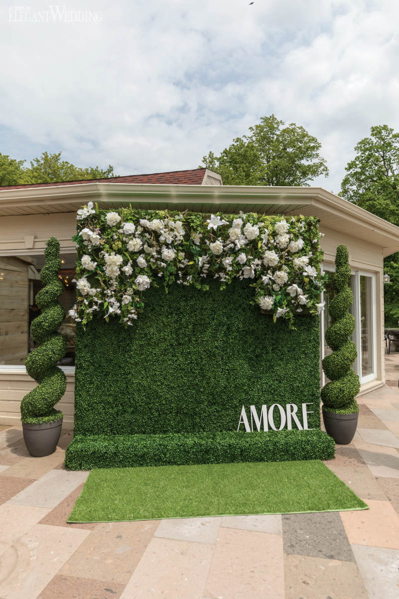 Greenery Wall Wedding Decor