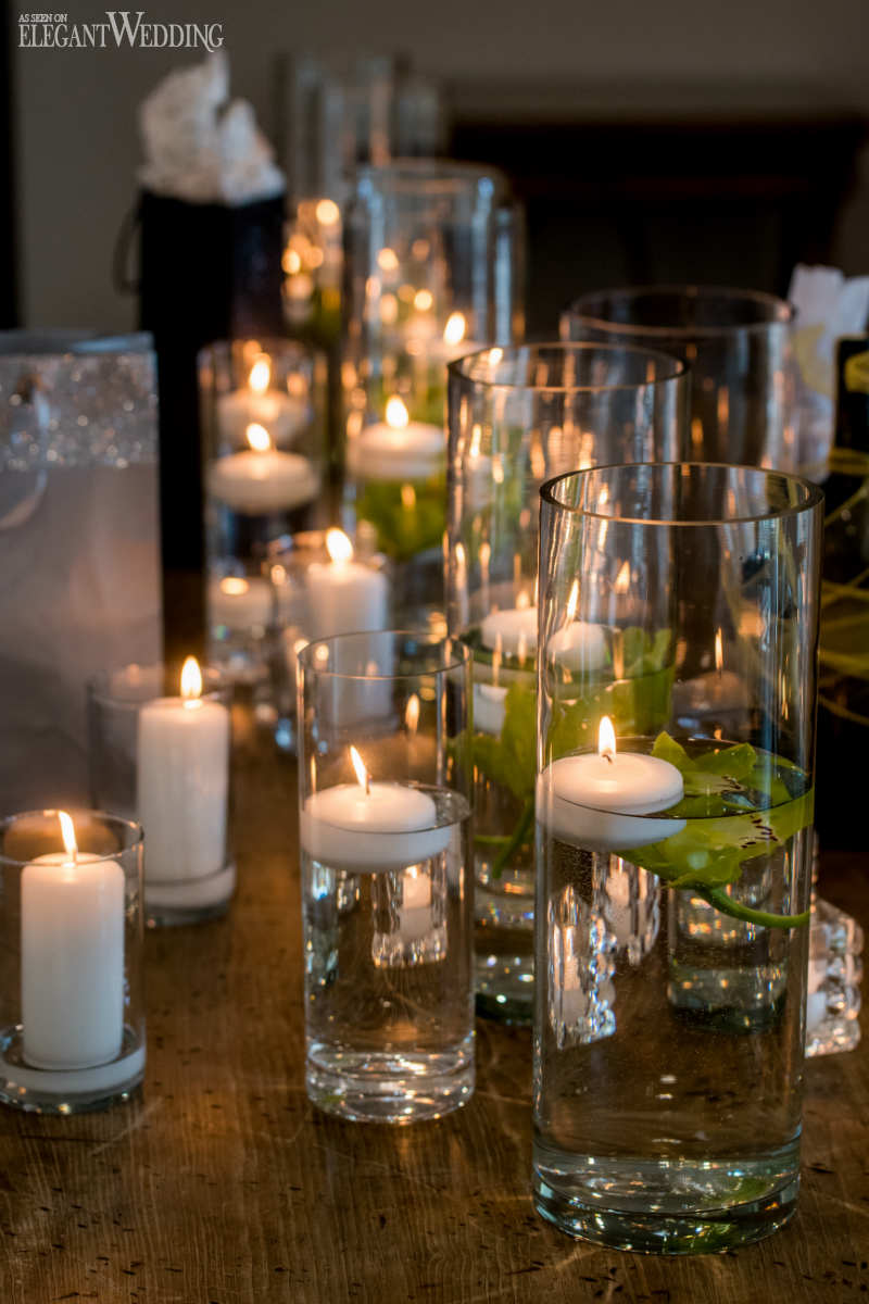 Pillar Candle Wedding Decor