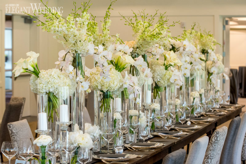 Country Chic Wedding with White Orchids