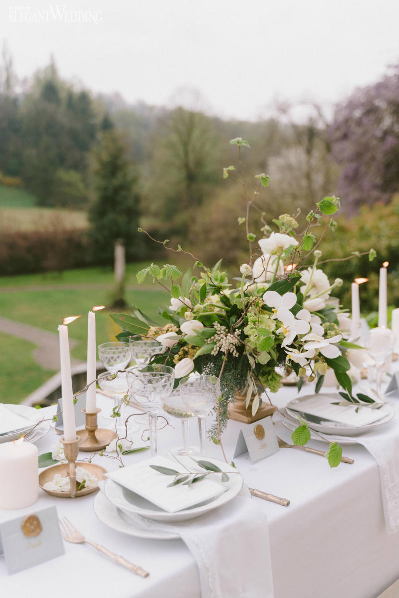 Natural Wedding Table Setting