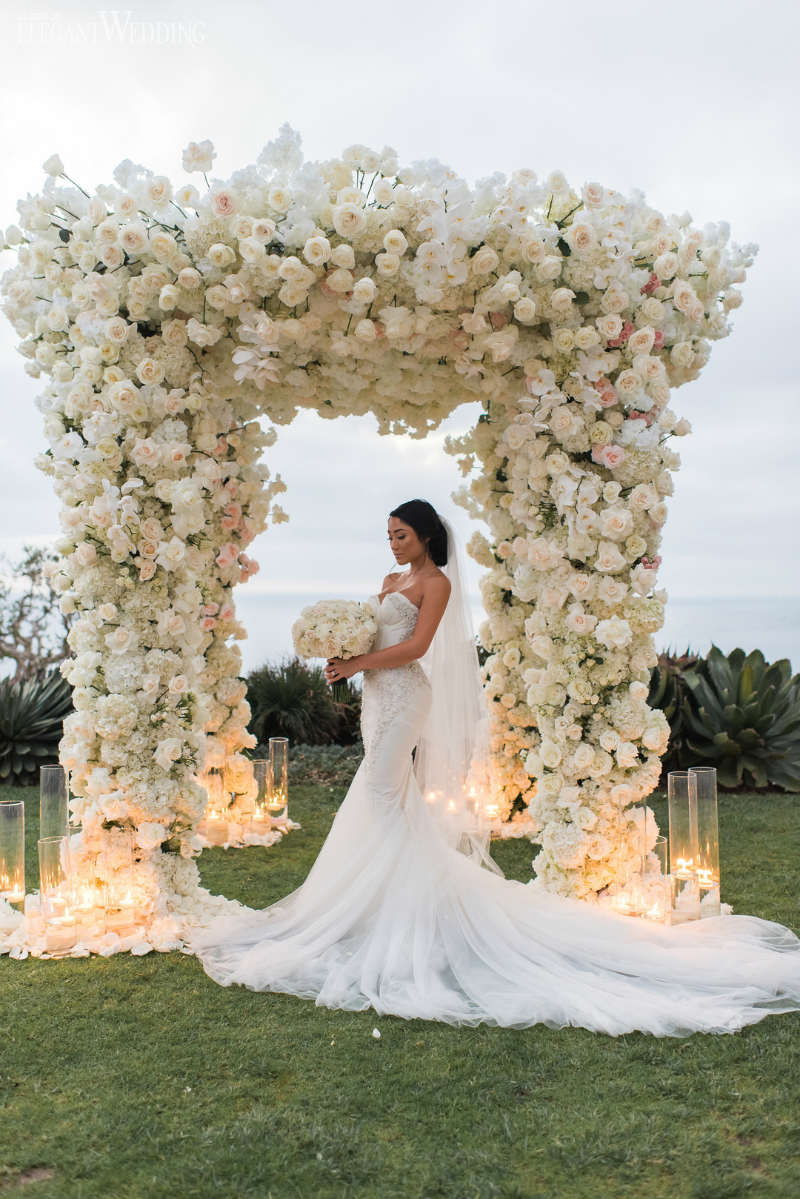 White Wedding Floral Arch