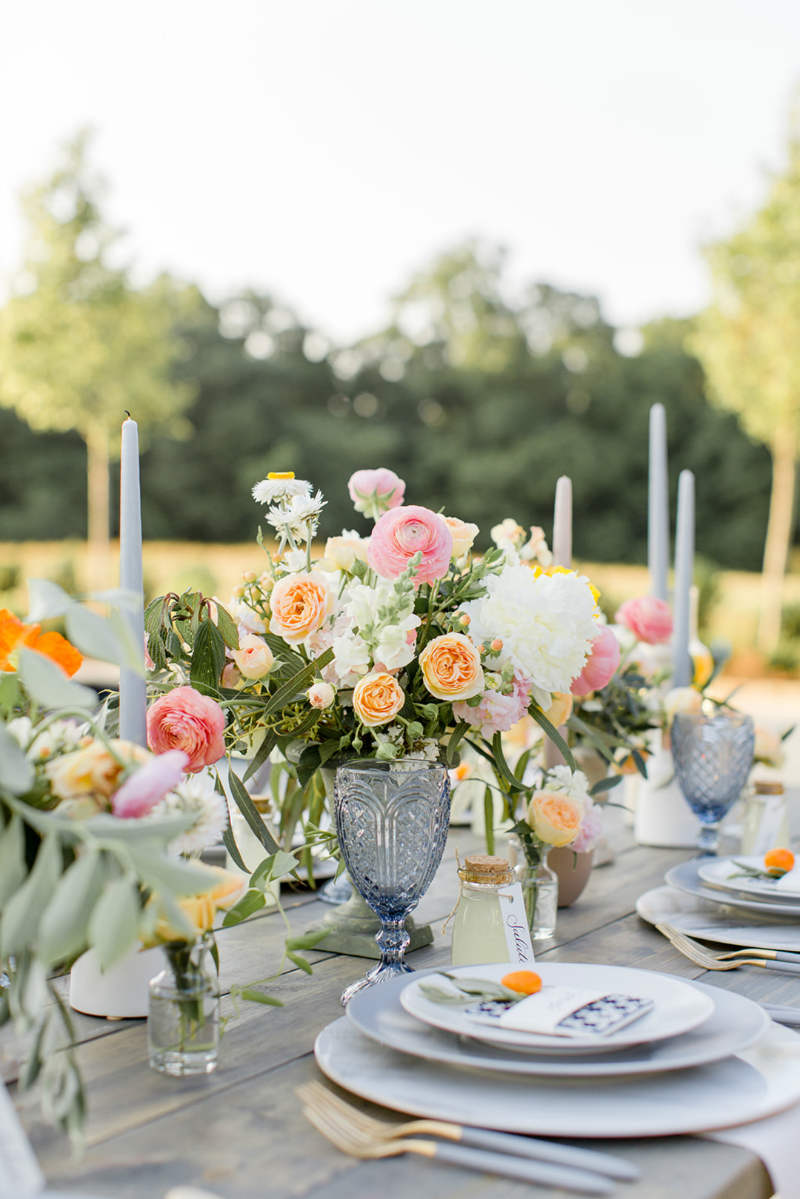Citrus Wedding Table Setting