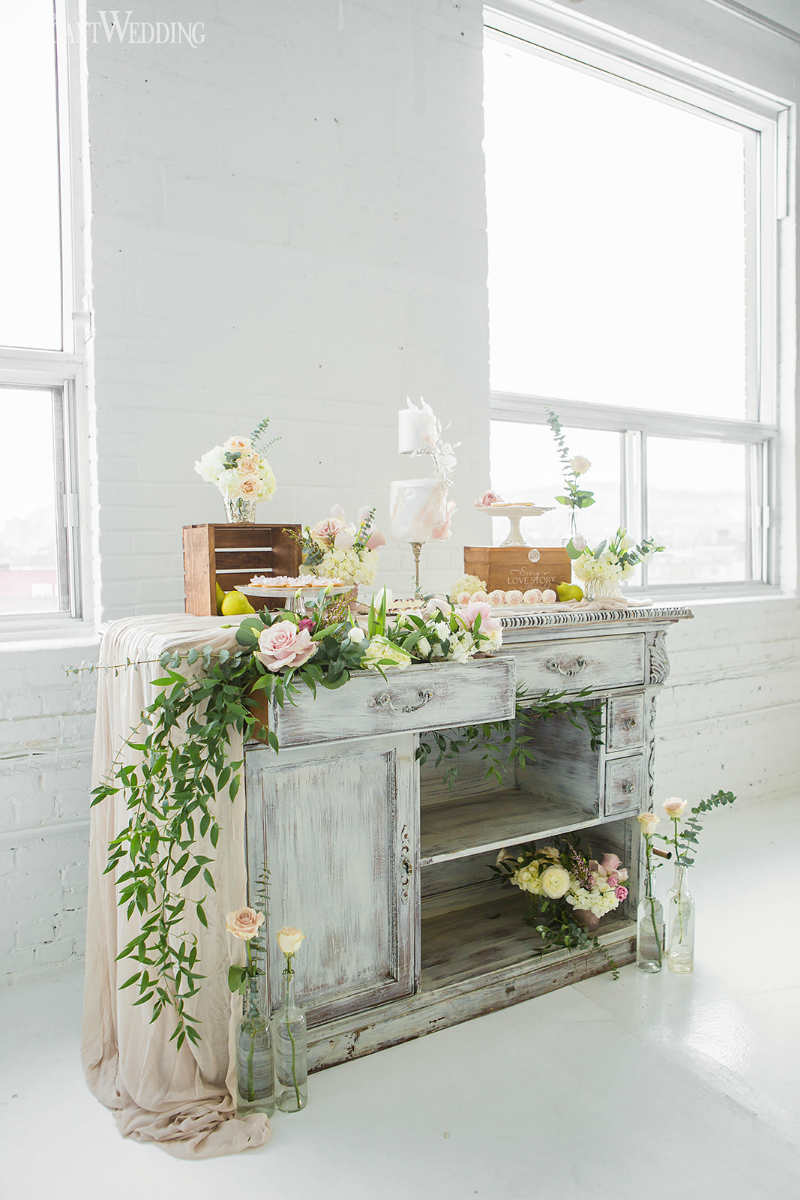 boho sweet table