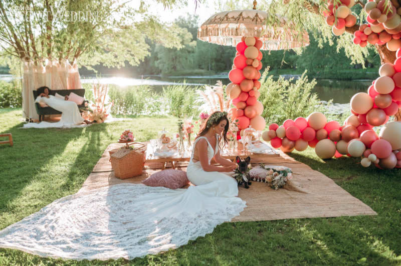 picnic wedding theme in a park