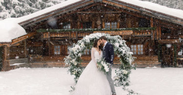 winter wedding arch