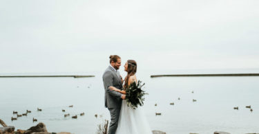 rustic wedding theme waterfront wedding